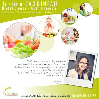 Diététicienne Nutritionniste  - Justine Caquineau